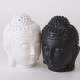 Oil Burner~Ethnic Thai Buddha Head Oil Burner White~Fair Trade By OB_29002